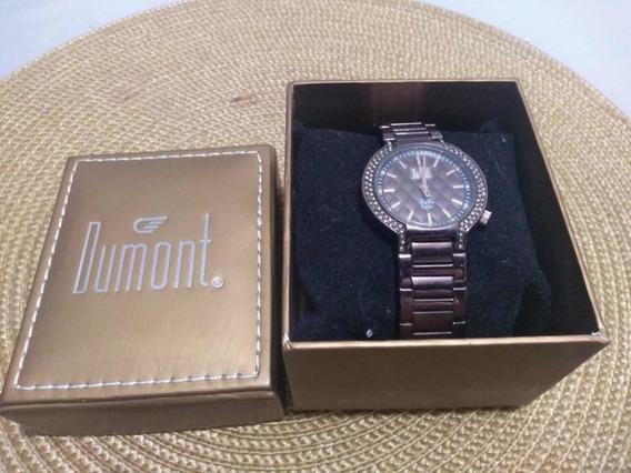 Relógio Dumont Marrom