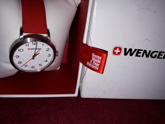 Reloj Wenger Caucho Rojo + Envio