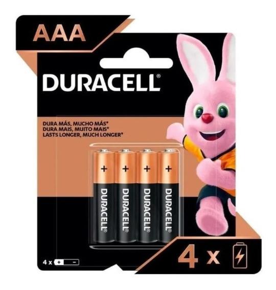 4 Pilhas Duracell Duralock Alcalina Aaa Embalagem C/4 Unids