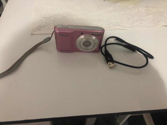Câmera Digital Sony Cyber Shot 2 Cartoes De Memoria 2 E 8 G