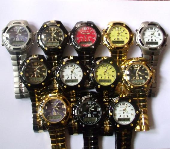 Relógio Masculino Potenzia Digital E Analogic,lote Com 24.