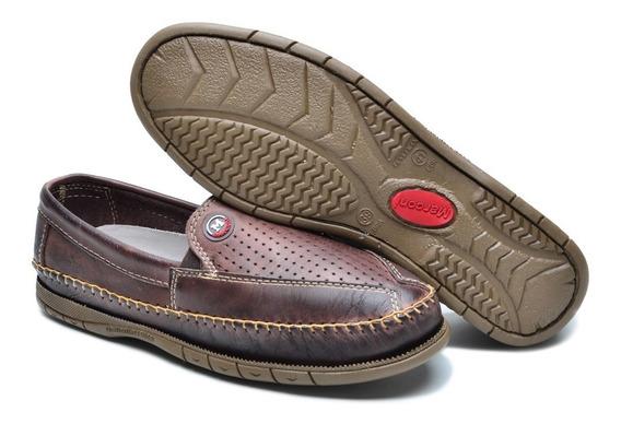 Mocassim Sapato Sapatilha Masculino Kit Com 3 Pares Couro