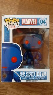 Funko Pop Blue Stealth Iron Man (vaulted)