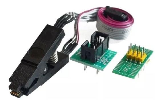 Pinça Clip Para Gravador Eeprom Soic8 Sop8 + 2 Adaptadores