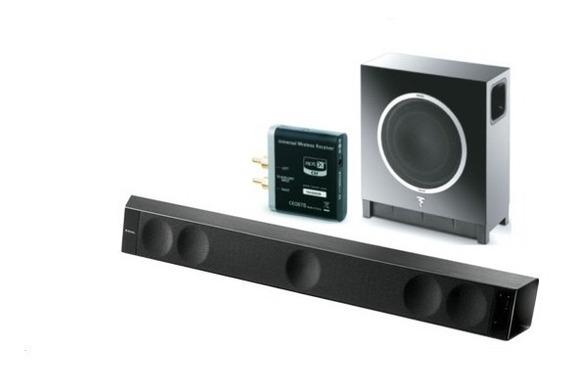 Kit Soundbar Focal Dimensionbar+subair+aptx - Home Theater