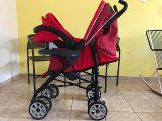 Bebê Conforto Key-fit Chicco + Carrinho De Bebê Neuvo (red)