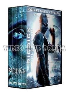 Riddick Colección Saga Completa Dvd Latino 4 Peliculas