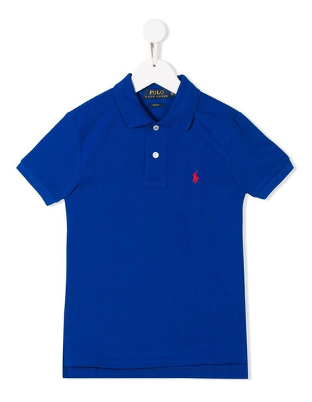 Playera Polo Ralph Lauren Azul Juvenil Talla 16 Nuevo