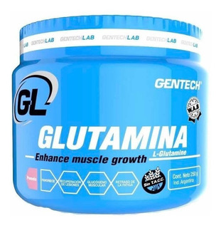 Glutamina Gentech 250 Grs Sin Tacc Recuperacion Muscular