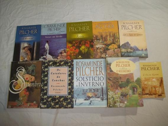 Rosamunde Pilcher Lote Com 10 Livros Titulos Nas Fotos