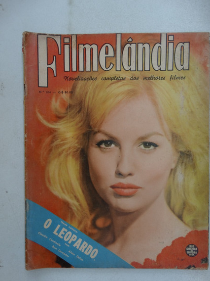 Filmelândia Nº 104! Rge Julho 1963! Claúdia Cardinale!