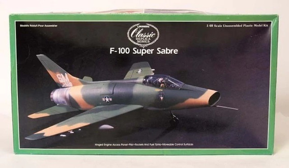 Avion Lindberg Super F100 Sabre De 29 Cm De Largo Escal 1/72