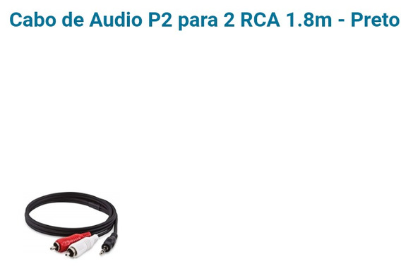 5...cabo P2 X Rca Marca Mymax