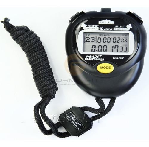 Cronometro 10 Memorias Alarma Calendario Max Electronics