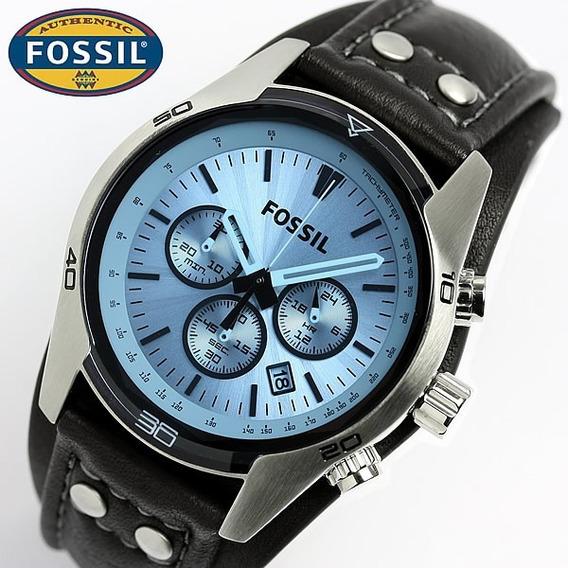 Relogio Fossil Ch2564 Masculino Preto Azul 100% Original