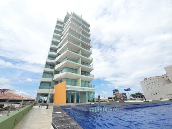 Departamento Amueblado Vista Al Mar A Orilla Del Mar Fracc Costa De Oro