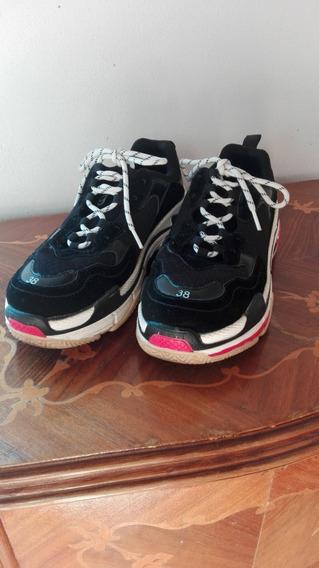 Zapatillas Sneakers Gummi Balenciaga Negra