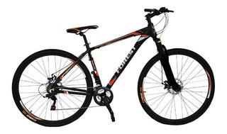 Bicicleta Mtb Forest Rod 29 Aluminio 21v Bloqueo Naranja+luz