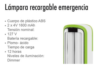 Lampara Recargable De Emergencia