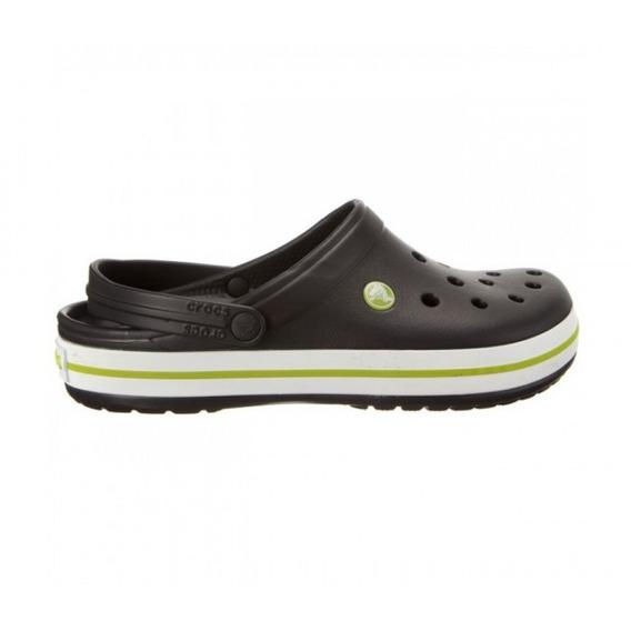 Zuecos Crocs Crocband Black Onix Volt Green Envíos Flex