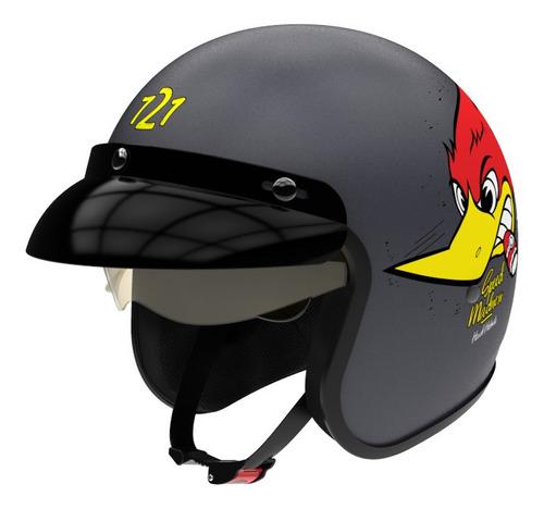 Imagen 1 de 4 de Casco para moto abierto Hawk 721  shopie grey mate speed madness talle XL