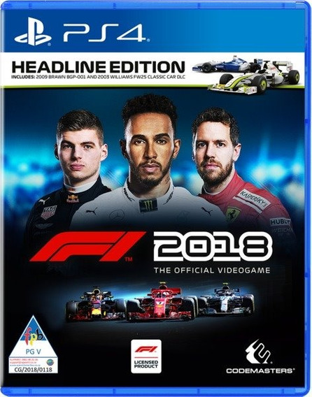 F1 2018 Headline Edition Ps4 Mídia Física Novo Lacrado