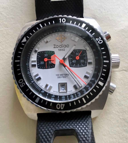 Relógio Zodiac Chronograph Seadragon Branco