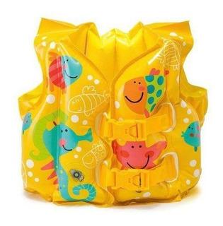 Colete Inflável Infantil Acessório De Nado Peixes