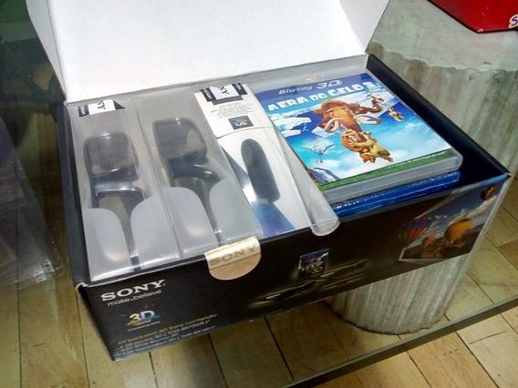 Kit 3d Sony + 4 Filmes Blu-ray Disc