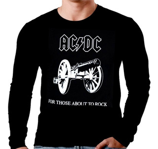 Camiseta Manga Longa Acdc For Those Ref 232