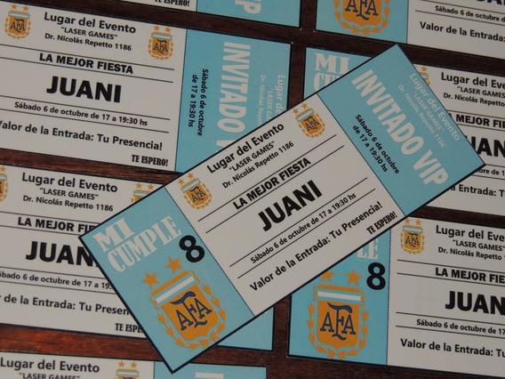 Invitaciones Cumpleanos Futbol Argentina Souvenirs Para
