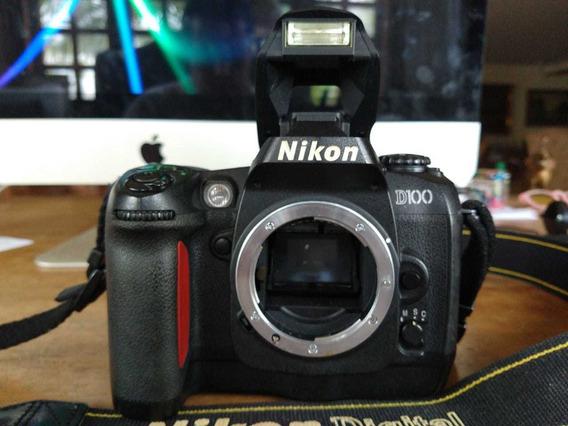 Camera Nikon Af D100 + Lente 24-80mm F 2,8 - 4 + Bolsa+ Kit