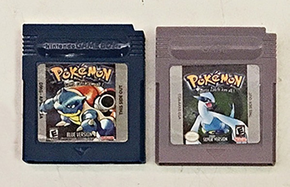 Jogo Gameboy Nintendo Pokemon Blue Silver Original Salvando