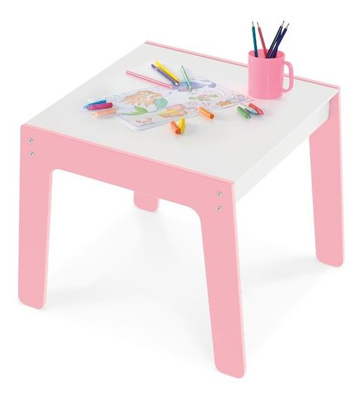 Mesa Mesinha Brinquedo Infantil Rosa Mdf P/ Junges 985