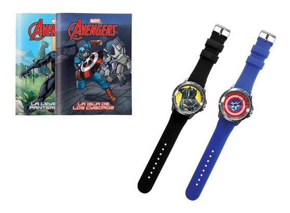 Clarín Colección Marvel Set 2 De 2 Relojes