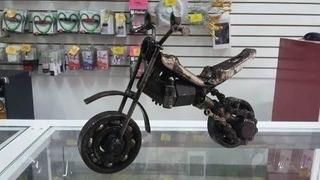 Arte Reciclado De Mat, Metalicos Motocicleta Tipo Croos