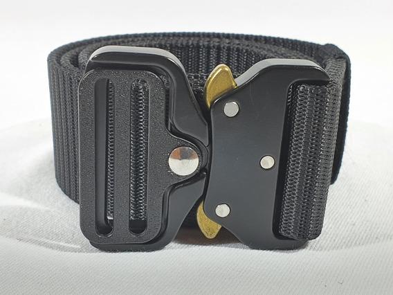 10pz Cinturon Negro Tactico Hebilla Accion Rapida Gjp