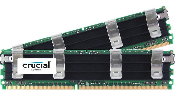 Crucial 8 Gb (4gbx2) Ddr2 800 Mhz (pc2 6400) Cl5 Ecc Fbd