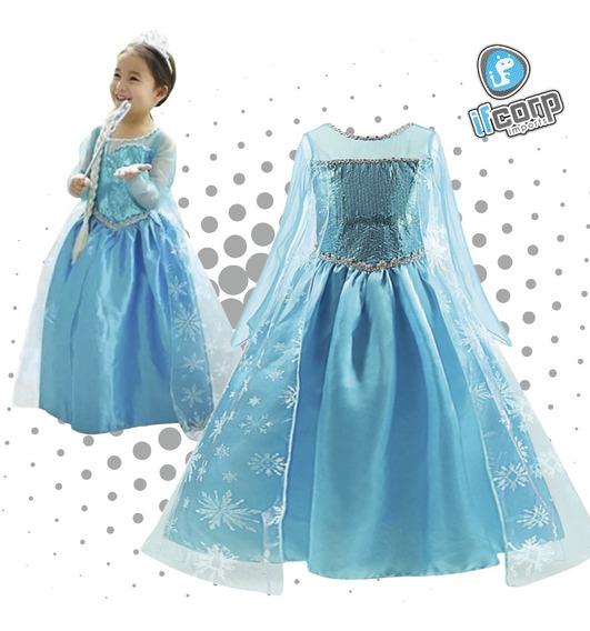 Disfraz Princesa Elsa Frozen Solo Vestido Niña Ana