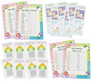 Juego De Ducha Para Bebés De 96 Piezas Paquete De Palabra