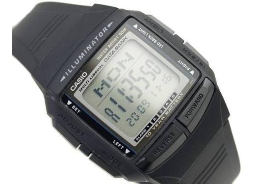 Relógio Casio Db-36 Data Bank 30 Memo 5 Alarmes S. Prata
