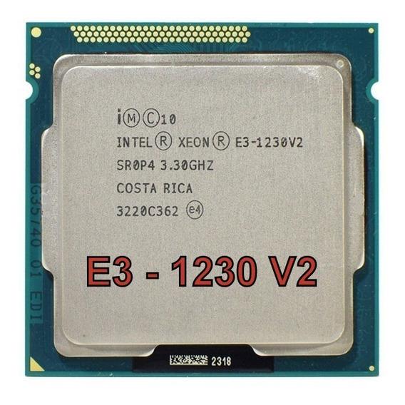 Processador Intel Xeon E3 1230 V2 = I7 3770/ Lga 1155