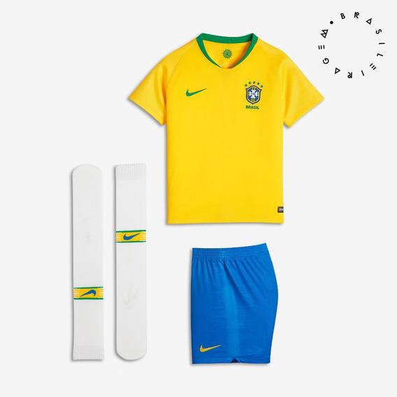 Conjunto Nike Brasil I Infantil 2018 - 2019