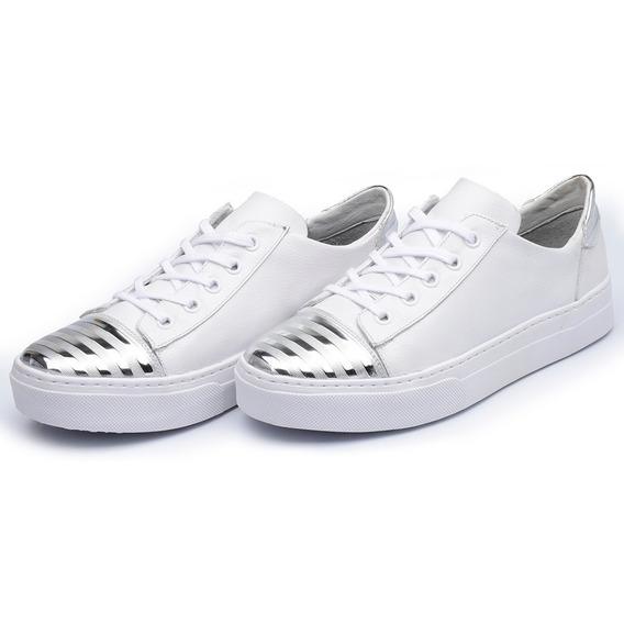 Sapatênis Feminino Sapato Samara Micro Forro Floater Branco
