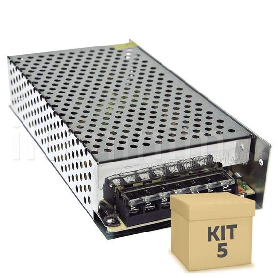 Kit 5 Fonte Chaveada 15a 12v 180w P/ Cftv Som Fita Led