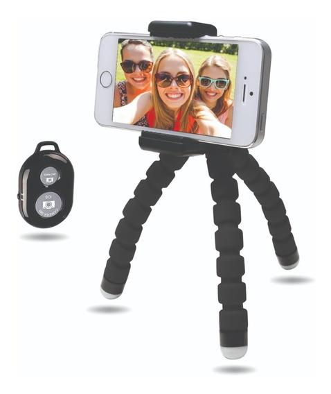 Tripie Compacto Bluetooth Para Smartphones Y Cámaras