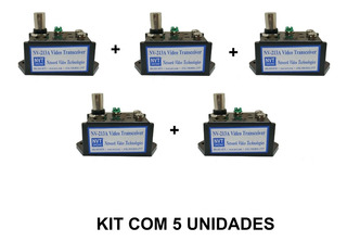 Transmissor Receptor Video Canal Unico Nvt Nv-213a Kit 5 Uni