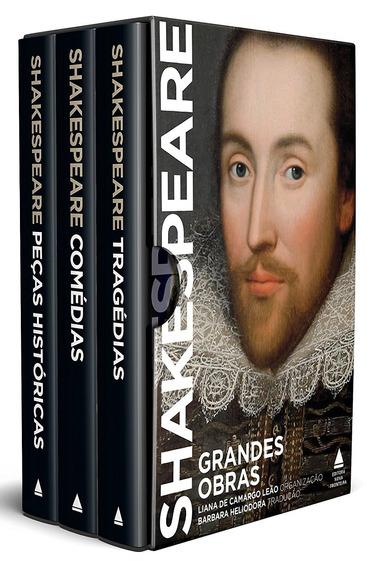 Caixa Grandes Obras De Shakespeare 3 Volumes + Frete Grátis