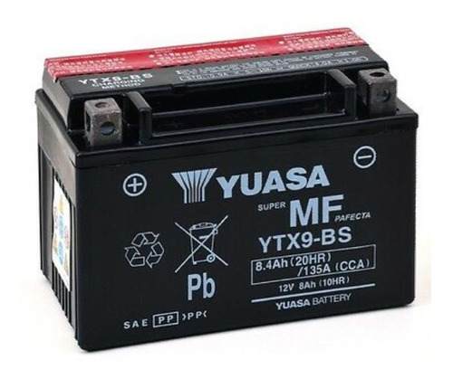 Batería De Moto Yuasa Ytx9-bs ,envío.