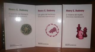 Dudeney: Diversiones Matemáticas. 3 Ts Acertijos Y Misterios